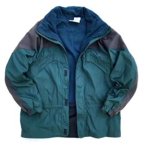 90s Nike ACG / Fleece Lined Nylon Jacket / Green / Used