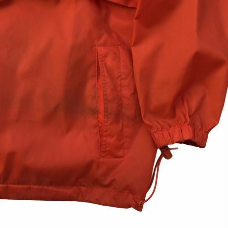 90s J.CREW / Packable Nylon Anorak  / Orange / Used