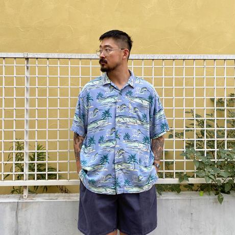 90's Columbia / Resort Open Collar Shirt / Used