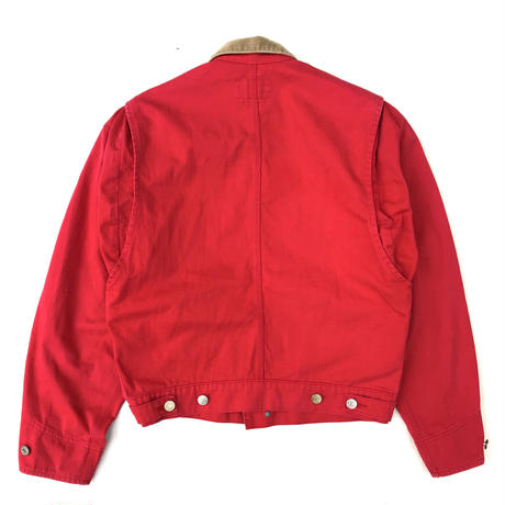 80s Polo Ralph Lauren / Cotton Work Jacket  / Red / Used