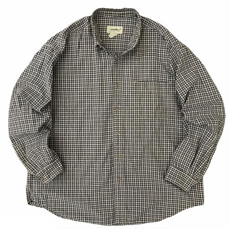 90's Eddie Bauer / Cotton Multi Check B.D. Shirt / Used