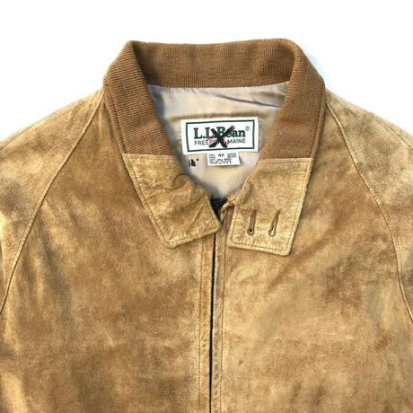 Made in USA / 80s L.L.Bean / Suede Leather Jacket  / Brown / Used