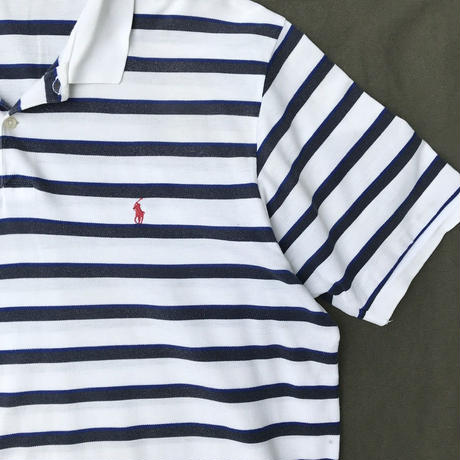Polo Ralph Lauren / Border Polo Shirt / WHT×NVY / Ued