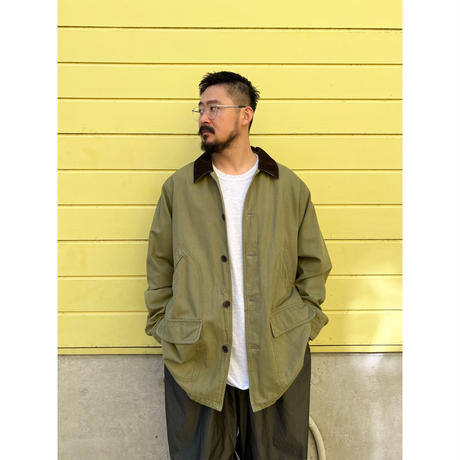 LANDS'END/ Checked Cotton Lined Hunting Coat / Sage Green XL / Used