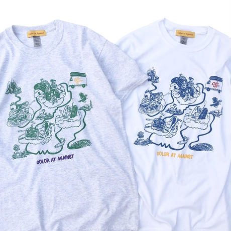 Color at Against Originals / Down The River Tee  / Ash