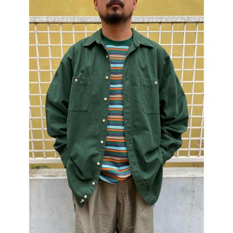 90's Eddie Bauer / 2Pocket Chamois Shirt / Forest / Used
