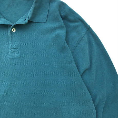 Old GAP  / Solid L/S Polo Shirt / Green / Used