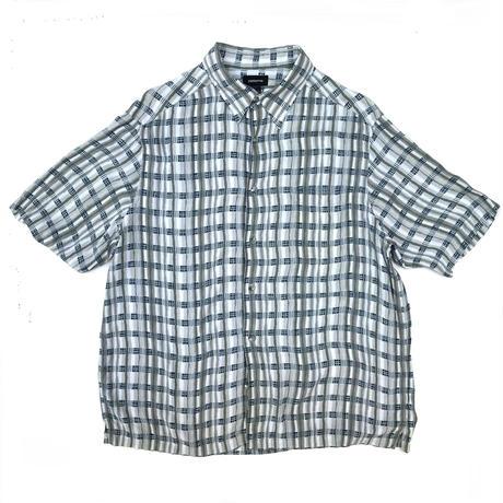 S/S Rayon Shirt / Gray × Blue / Used