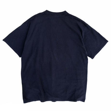 Made in USA / 90's Reebok / Logo Print Tee / Navy / Used