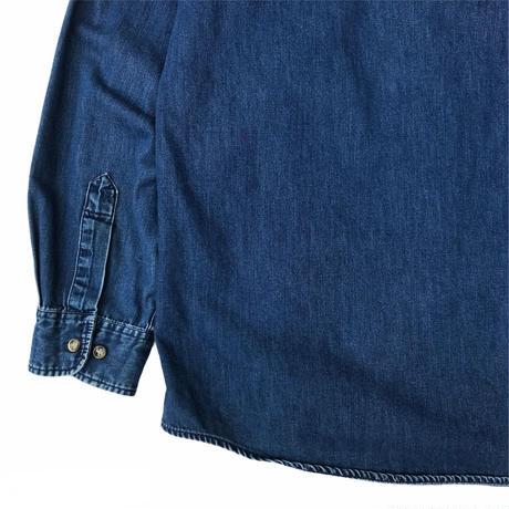 DOCKERS / Cotton Denim B.D.Shirt / Indigo / Used
