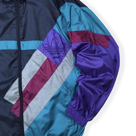 90's adidas / Trefoil Logo Crazy Pattern Sport Jacket / L / Vintage