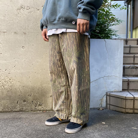 """Made in USA / 80-90's 10X / """"GORE-TEX"""" NylonPants / Real Tree L / Used"""