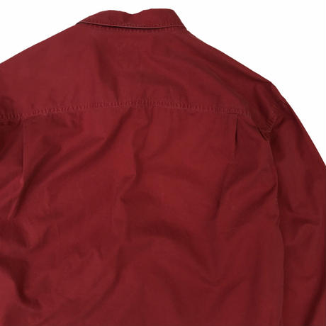 90's OLD GAP / 2Pocket Cotton B.D Shirt / Lt.Burgundy / Used