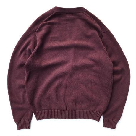 00s L.L.Bean /  Cotton Cardigan / Burgundy / Used