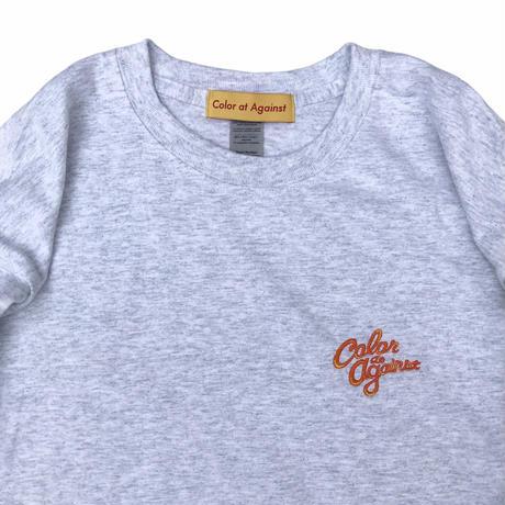 """Color at Against ORIGINALS / C&C """"Orange"""" Embroidered L/S Tee / Ash"""