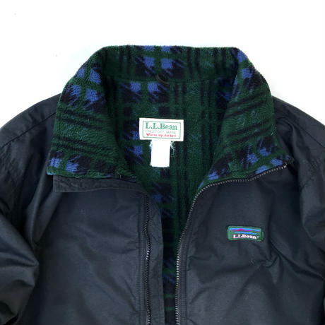Made in USA / 80s L.L.Bean / Fleece Lined Nylon Jacket / Black / Used
