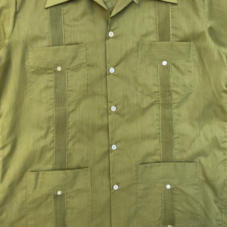 70s S/S Cuba Shirt / Green Tea / Used