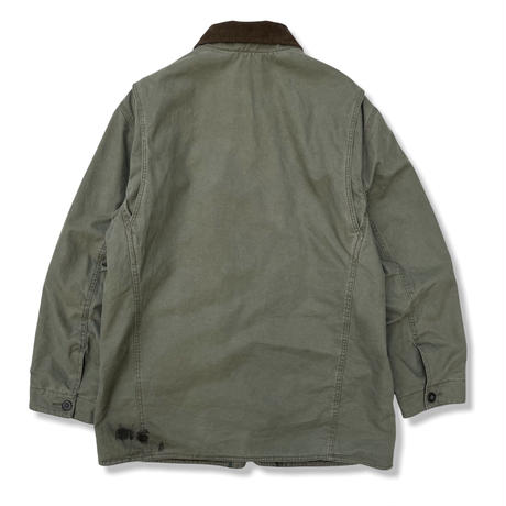 00's ORVIS / Quilted Polyester Lined Hunting Coat / Khaki L / Used