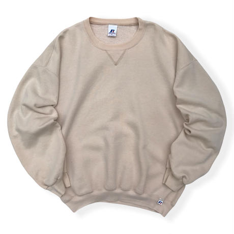 90's Russell Athletic / Solid Sweat / Beige XL / Used