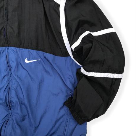 90's Nike / Crazy Pattern Sport Jacket / Blue×Black XL / Vintage