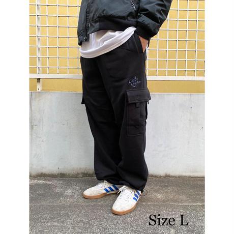 Color at Against ORIGINALS / C&C Embroidered Sweat Cargo Pants / Black