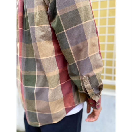 90s Eddie Bauer / 2Pocket Multi Checked Shirt /Multi / Used