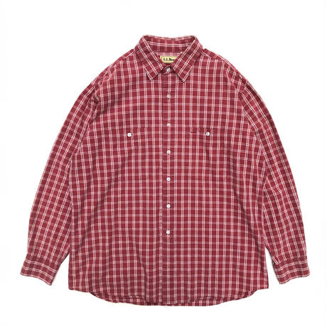 L.L.Bean / L/S B.D.Check Shirt /  Wine / Used