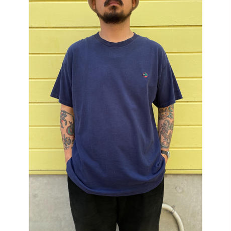 Made in USA / 90's Duck Head / One Point Logo Tee / Navy / Used