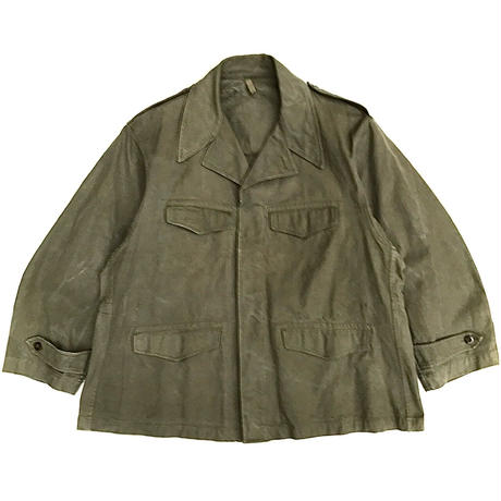 47~50s French Military / M-47 Field Jacket / Olive / Used