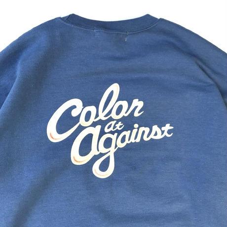 Color at Against Originals / C & C Crew Neck Sweat / Indigo Blue