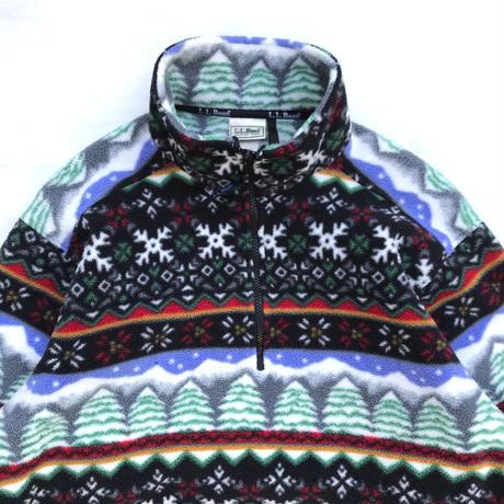 80s L.L.Bean / Multi Pattern Fleece Pullover / Multi / Used