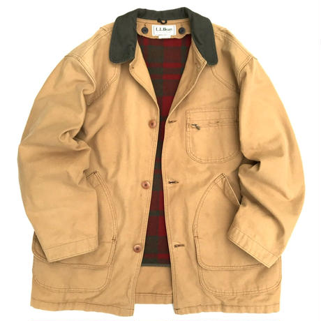 Made in USA / 80s L.L.Bean / Wool Lined Hunting Jacket / Beige L / Used