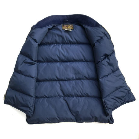 Made in USA / 80s Eddie Bauer / Goose Down Vest / Navy / Used