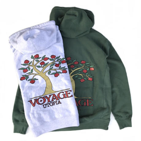 Voyage / POMEGRANATE HOODED SWEAT / GREY,FOREST