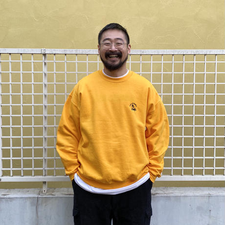 Color at Against Originals / Mister Embroidered Crew Sweat / Gold