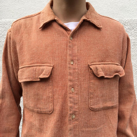 Eddie Bauer / Open Collar Shirt / Apricot / Used