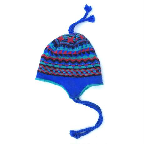 Ear Flap Knit Cap / Multi / Used