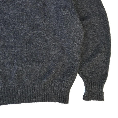 Made in England / LANDS'END / Pullover Wool Knit Sweater / Charcoal / Used