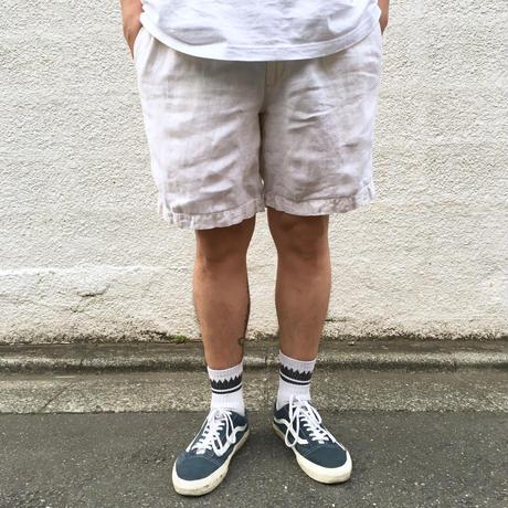 Polo Ralph Lauren / 2tuck Linen  Short  / White / Used