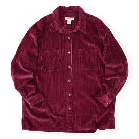 90's Eddie Bauer / Corduroy Shirt / Burgundy WXL / Used