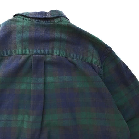 LANDS'END / Black Watch Checked Shirt /Black Watch / Used