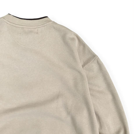 Embroidered Fishing Sweat / Beige XL / Used