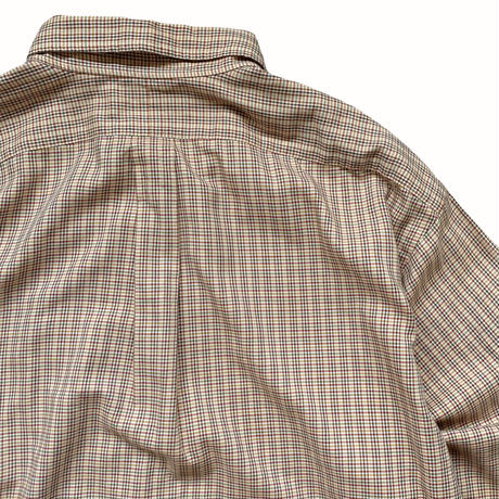 "90's Raph Lauren / Cotton Multi Checked B.D Shirt ""BLAKE"" Used"