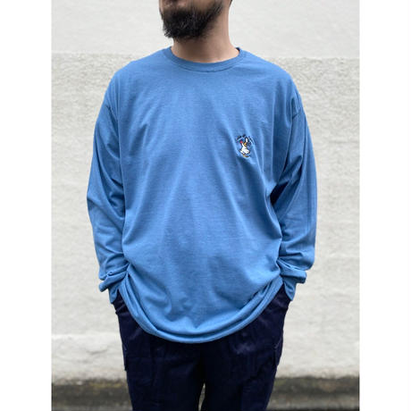 Color at Against Originals  / Mr.Chicken L/S TEE / Sand , Indigo
