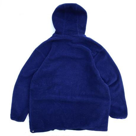 80s L.L.Bean / Full Zip Fleece Hoodie / Navy / Used