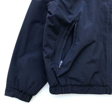 00s Eddie Bauer / Fleece Lined Nylon Jacket / Navy / Used