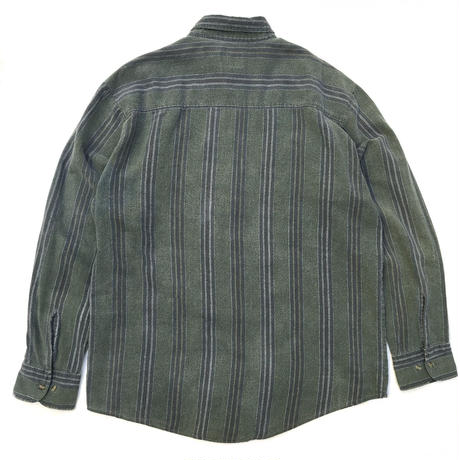L/S Check B.D. Shirt / Green / Used