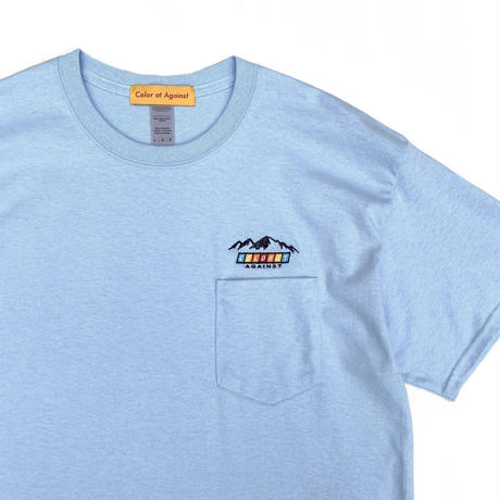 Color at Against Originals /  Mountain Logo Tee / Sky