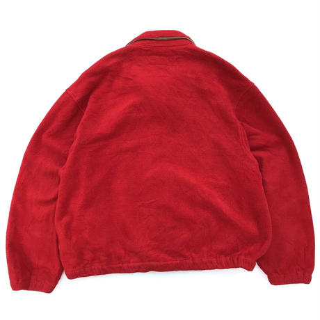 Made in USA / 90s Polo Sport / Full Zip Fleece Jacket / Red / Used