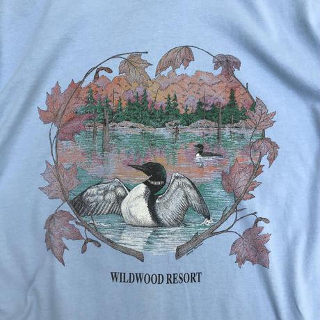 Made in USA / 90's Wildwood Resort Tee / Lt.Blue / Used
